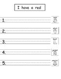 Pattern Writing with Sight Words (Freebie from Bundle 8!)