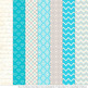 Pattern Zoo Vector Elephants Clipart & Digital Papers in T