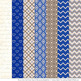 Pattern Zoo Vector Owls Clipart & Digital Papers in Royal Blue