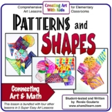 Art Lesson Patterns and Shapes Math Integrated