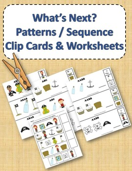 Pattern and Sequence Clip Cards and Worksheets - Pirates