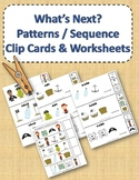 Pattern and Sequence Clip Cards and Worksheets - Pirate Theme