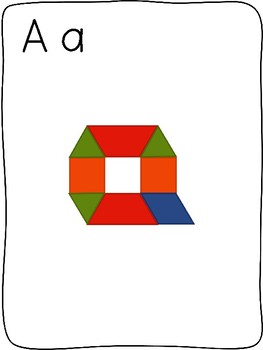 Pattern block - A to Z letter formation activity mats - without images
