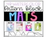 Pattern block mats  - watercolor