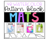 Pattern block mats  - watercolor