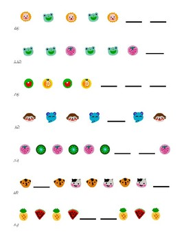 Pattern cards for mini-erasers