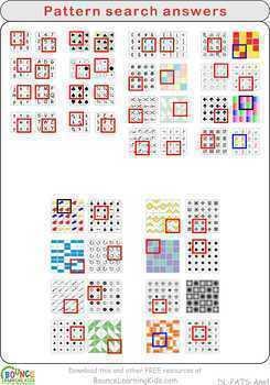Pattern search (15 Visual perception sheets) FREE