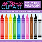 Crayons Clip Art (Digital Use Ok!)
