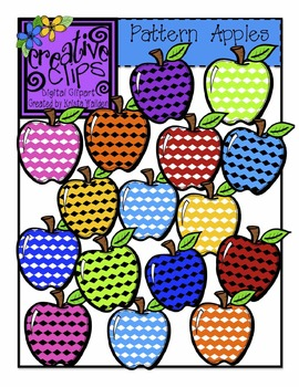 Patterned Apples {Creative Clips Digital Clipart}