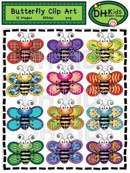 Patterned Butterfly Clip Art