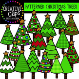 Patterned Christmas Trees - Christmas Clipart {Creative Clips Digital Clipart}