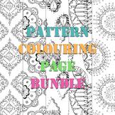 Patterned Coloring Pages 10 Piece Bundle