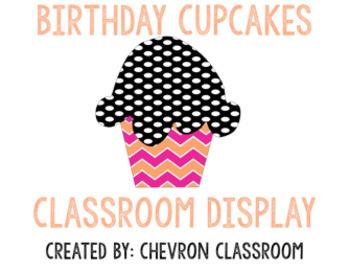 Patterned Cupcake Birthday Display