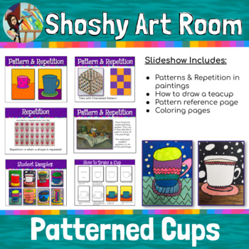 Patterned Cups: Can be used for sub plan