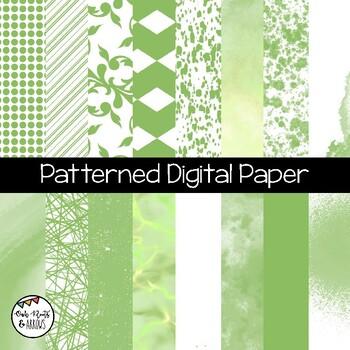 Patterned Digital Paper : 16 Different Images : Set #1
