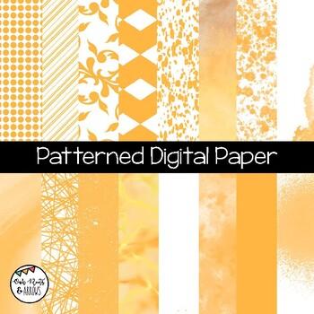Patterned Digital Paper : 16 Different Images : Set #4