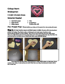Patterned Heart Collage for Primary Students
