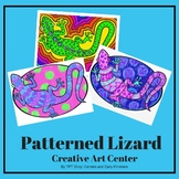 Patterned Lizard - A Doodling Activity for Centers and Ear