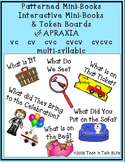 Patterned & Interactive APRAXIA Mini-books & Token Boards
