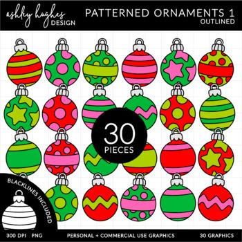 Patterned Ornaments 1 Clipart {A Hughes Design}