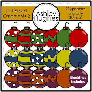 Patterned Ornaments 2 Clipart {A Hughes Design}