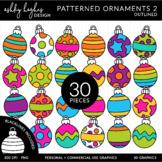 Patterned Ornaments 3 Clipart {A Hughes Design}