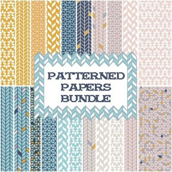 Seller's Digital Patterned Paper
