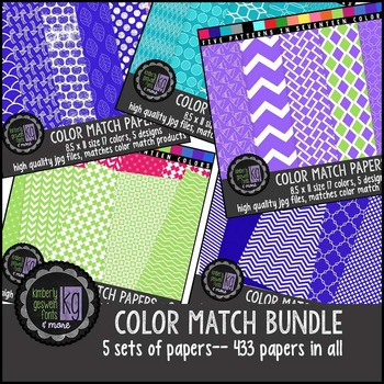 Patterned Papers: KG Color Match Papers Bundle