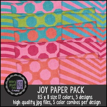 Patterned Papers: KG Joy Paper Pack