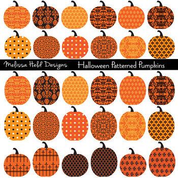 Patterned Pumpkin Clipart