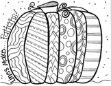 Patterned Pumpkin Coloring Sheet