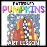 Art Lesson: Patterned Pumpkin Art Game | Art Sub Plans