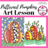 Art Lesson: Patterned Pumpkin Art Game | Art Sub Plans