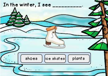 Patterned Sentences about Winter: BOOM Digital Task Cards