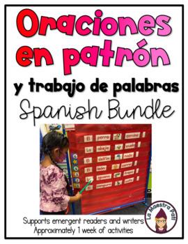 Patterned Sentences and Word Work Spanish BUNDLE