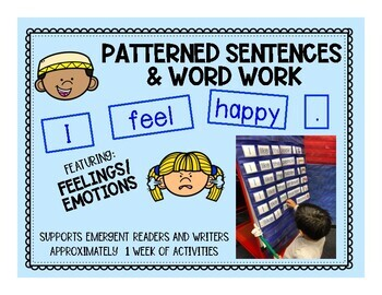 Patterned Sentences and Word Work in English Feelings