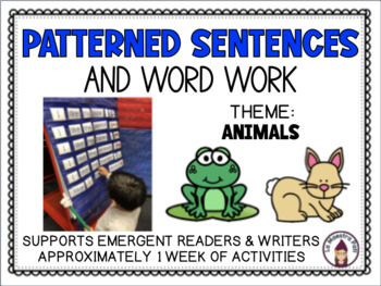 Patterned Sentences and Word Work in English I See (Animals)