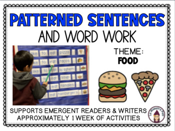 Patterned Sentences and Word Work in English- I like to eat. (Food)