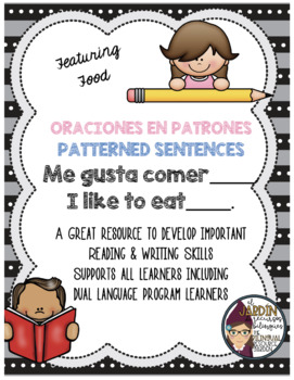Patterned Sentences in Spanish and English- I Like (Food)