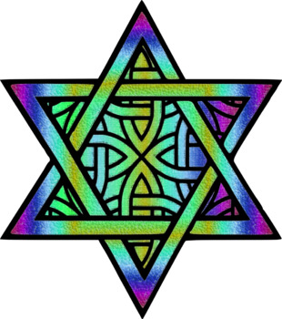 Patterned Star of David Clip Art Set Commercial and Personal Use