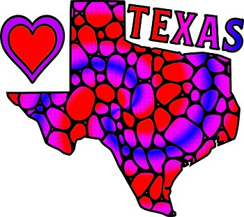 Patterned State of Texas FREEBIE Clip Art Set Personal Use