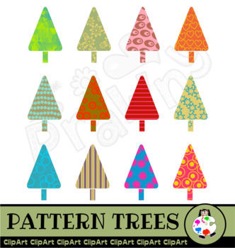 Patterned Tree Clip Art Nature