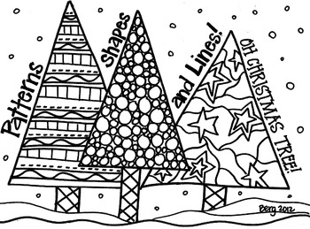 Patterned Trees Coloring Sheet