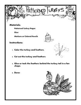 Patterned Turkeys