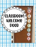 Patterned Welcome Sign for Classrooms