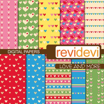 Patterned background - Love and more (printable scrapbook papers)