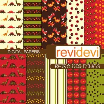 Patterned background - Retro big dinos (teacher resource)