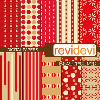Patterned background - beautiful red (teacher resource)