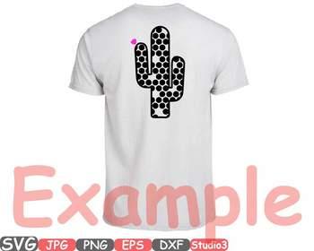Patterned cactus Chevron Monogram clipart aztec Polka Dots stripe  tshirt -41sv