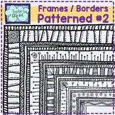 Patterned frames - borders {set # 2} - Teacher's Clipart